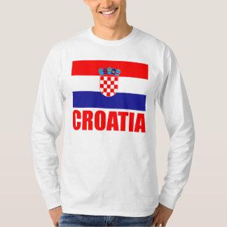 Texto del rojo de la bandera de Croacia Camiseta