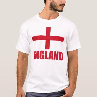 Texto del rojo de la bandera de Inglaterra Camiseta