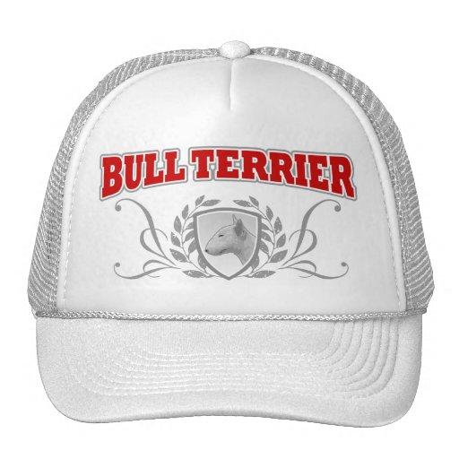 Texto del rojo del COA de bull terrier Gorra