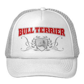 Texto del rojo del COA de bull terrier Gorros