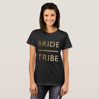texto elegante minimalista de la hoja de oro de la camiseta