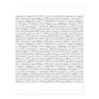 Texto escrito de la mano elegante postal