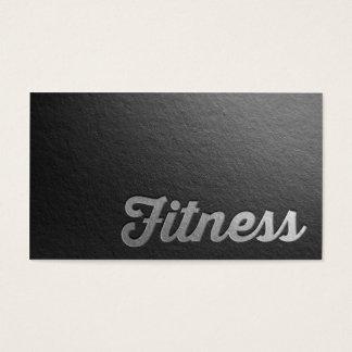 Texto grabado en relieve plata negra mínima del tarjeta de negocios