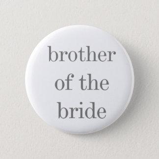 Texto gris Brother del botón de la novia