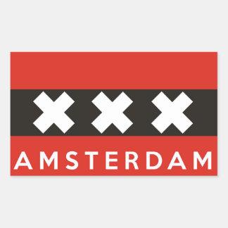 texto holandés del nombre de país de la bandera de pegatina rectangular