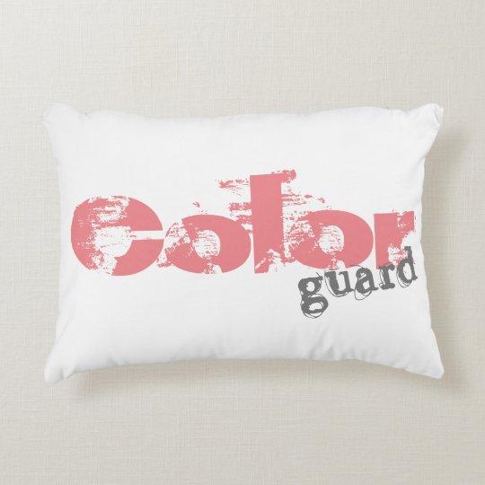 Texto intrépido de Colorguard en las almohadas