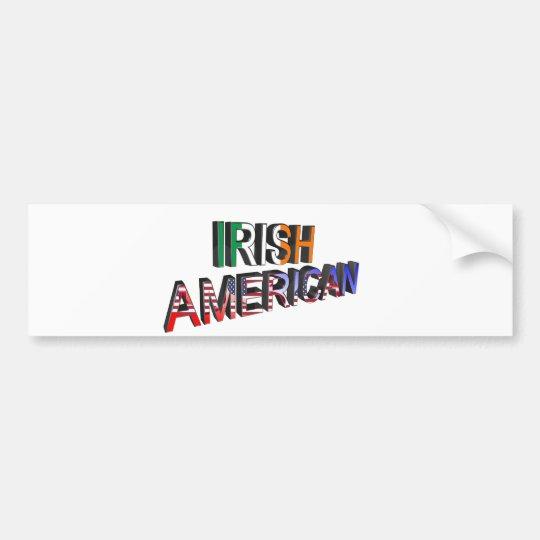 Texto Irlandés-Americano para la pegatina para el