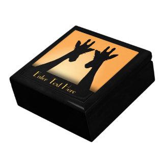 Texto largo del personalizado de la jirafa de las caja de regalo