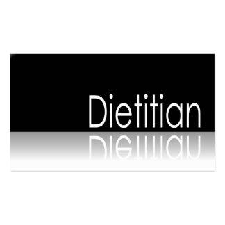 Texto reflexivo - dietético - tarjeta de visita