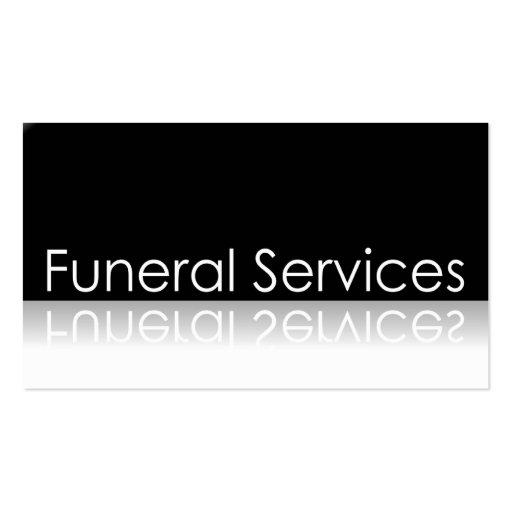 Texto reflexivo - funerales - tarjeta de visita