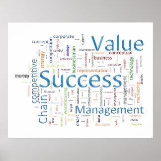 Texto relacionado del valor y del éxito poster