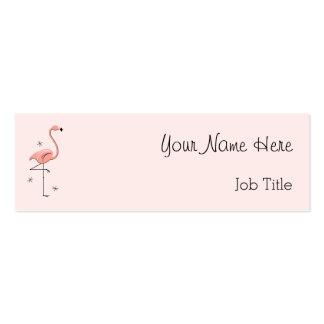 Texto rosado del lado de la tarjeta de visita del