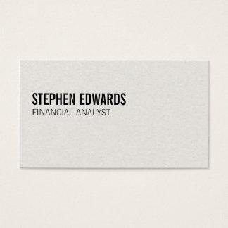 Texto simple del | tarjeta de visita