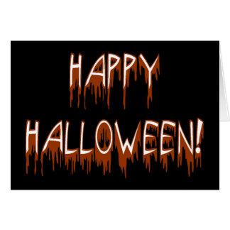 Texto sufridor de Halloween Tarjeton