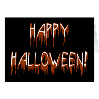Texto sufridor de Halloween Tarjeta De Felicitación