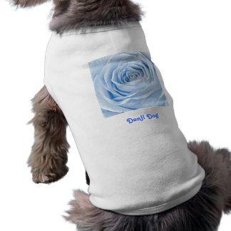 Texto Temolate, color de rosa azul claro delicado Camiseta Sin Mangas Para Perro