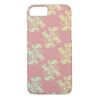 Textura abstracta del damasco de la MOD del rosa Funda iPhone 7