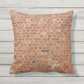 Textura al aire libre de la pared del cojín decorativo