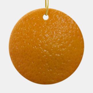 Textura anaranjada adorno redondo de cerámica