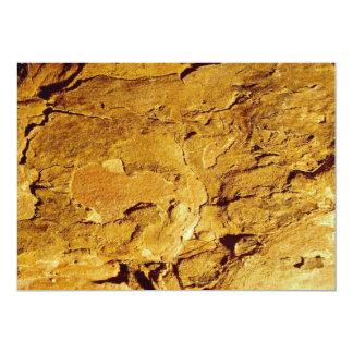 Textura anaranjada invitación 12,7 x 17,8 cm