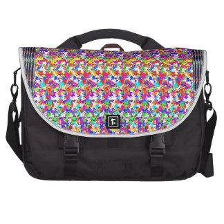 Textura artística de los pattens de la mariposa bolsas de portatil