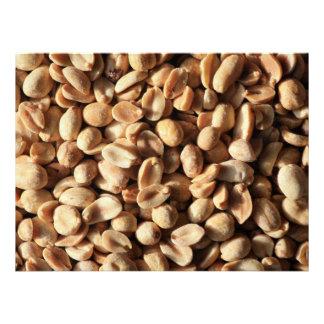 Textura asada de los cacahuetes anuncio personalizado