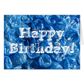¡Textura azul de la burbuja, feliz cumpleaños! Tarjeta De Felicitación