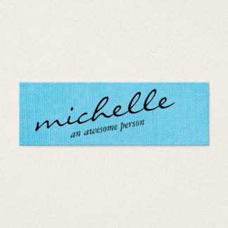 Textura azul minimalista con el texto cursivo tarjeta de visita pequeña