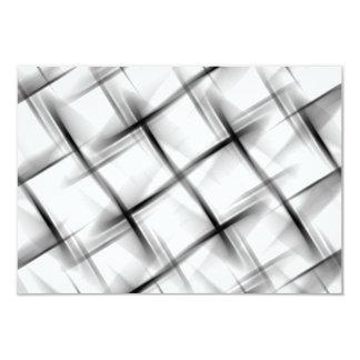Textura blanca de la armadura de cesta invitación 8,9 x 12,7 cm