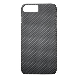 Textura clásica de la fibra del grafito funda iPhone 7 plus
