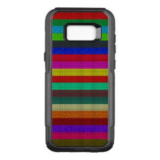 Textura coloreada de la teja de las rayas funda commuter de OtterBox para samsung galaxy s8+