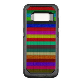 Textura coloreada de la teja de las rayas funda otterbox commuter para samsung galaxy s8