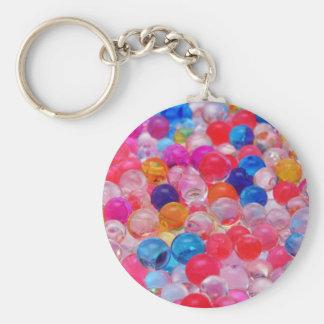 textura coloreada de las bolas de la jalea llavero