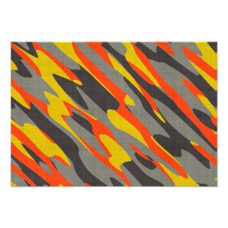 Textura colorida del camuflaje invitacion personal