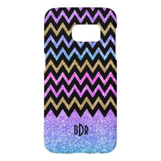Textura colorida geométrica moderna Chevron del Funda Samsung Galaxy S7