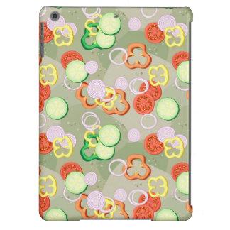 Textura con las rebanadas de verduras funda para iPad air