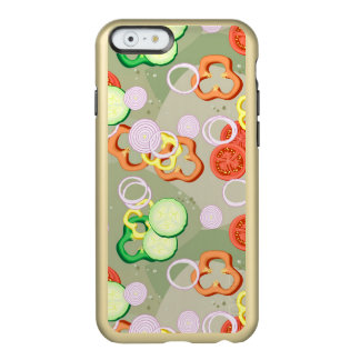 Textura con las rebanadas de verduras funda para iPhone 6 plus incipio feather shine