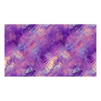 Textura cristalina púrpura Amethyst del gel Tarjetas De Visita