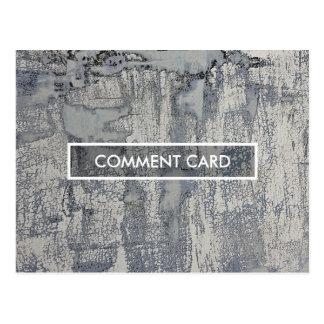 textura curruscante de la tarjeta del comentario postal