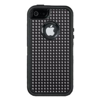 Textura de acero tachonada funda otterbox para iPhone 5/5s/SE