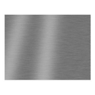 Textura de aluminio cepillada postal