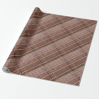 textura de bambú de la estera papel de regalo