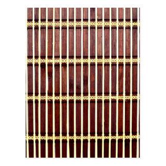 textura de bambú de la estera postal