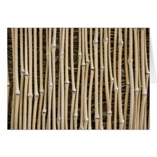 Textura de bambú tarjeta de felicitación