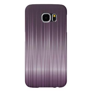 Textura de color morado oscuro simple de la fibra funda samsung galaxy s6