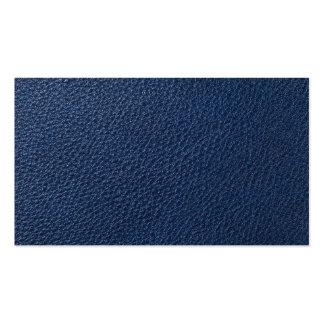 Textura de cuero azul para el fondo tarjetas de visita
