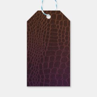 Textura de cuero etiquetas para regalos