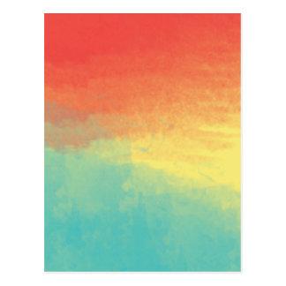 Textura de la acuarela de Ombre - trullo, Postal