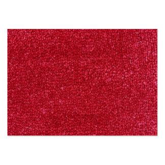 Textura de la alfombra roja tarjetas de visita grandes