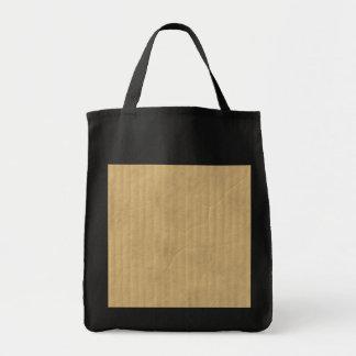 Textura de la cartulina acanalada bolsa de mano